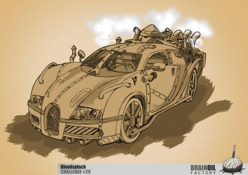 contemporary car in a steampunk style by Bloodspl4sh