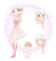 Strawberry Lime Cupcake Chan by Khryas