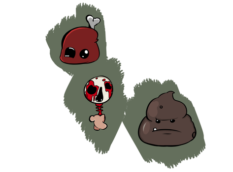 Issac Monster Doodles by PotionsPoppingPills