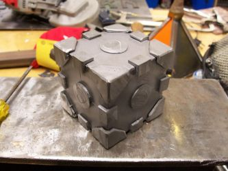Weighted Companion Cube by WMVmetalsmithing