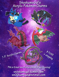 Acrylic Pokemon Charms for Sale by SnookumsGal