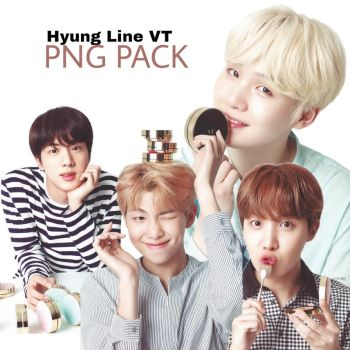 Hyung Line VT Png Pack by sweetestsuccubus