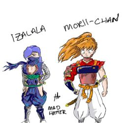 IzaLaLa and Morii-Chan by MadHatterEvo