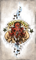 Dirty Heads Octopus w/ Headphones Tattoo Concept by Cameron-Schuyler