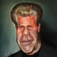 Hell Boy Perlman Caricature by jonesmac2006