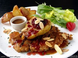 Pork steak with pear by PaSt1978