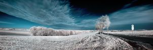 Hometown in infrared by Torsten-Hufsky