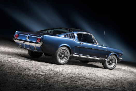 blue 1965 Ford Mustang Fastback by AmericanMuscle