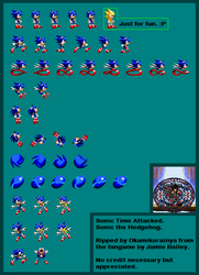 Sonic: Time Attacked - SonicSprite by Okamikurainya