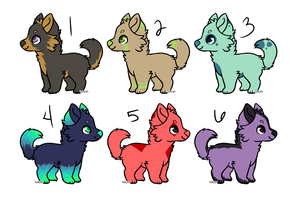 Pupper Adopts - Set 1 - 5/6 OPEN by Runic-Potato