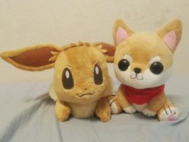 Shibao and Eevee by Chibidachi
