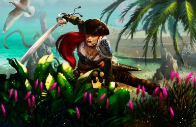 Pirate girl by EmmanuelBouART