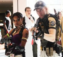 Ohayocon- Chris and Sheva by ichinoshi