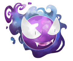 Watercolor Gastly by Visoris