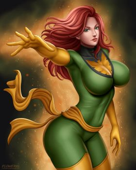 Jean Grey by Flowerxl