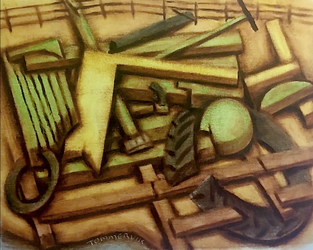 Abstract Tractor Painting by TOMMERVIK