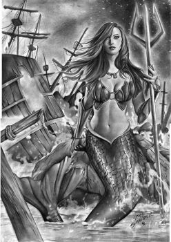 Ariel the Little Mermaid by Rafaschneider2016art