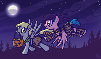 Xena and Gabby go on an adventure by SorcerusHorserus