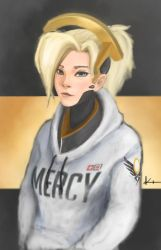 Casual Mercy - Overwatch by Kevynd