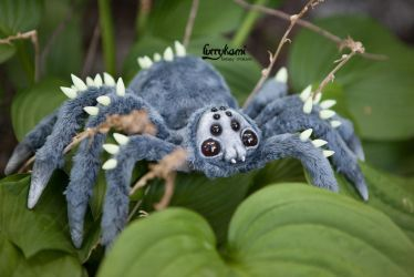 Spider art doll by Furrykami-creatures