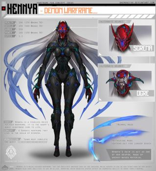 Warframe Fan Concept Idea - Hennya by daemonstar
