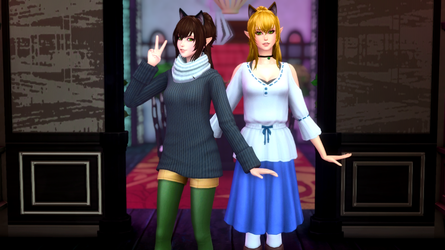 [Sims 4] Monster Hunter - Cati and Milsy by Tx-Slade-xT