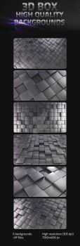 3D Cube Backgrounds by virusowy