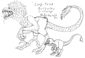 Long-Tailed Bucbuclaw + Offspring by FiftyFootWhatever