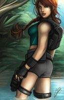 Lara Croft - Jungle Scene by Holly-the-Laing