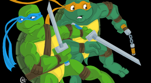 Leonardo and Michelangelo by Shellsweet
