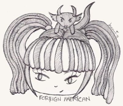 Pen Sketch: Foreign American by azamithesadist