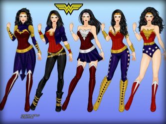 Wonder Woman: alternate costumes by LadyRaw90