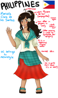 Updated Philippines OC design (reference) by melondramatics