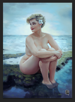 Stefania Ferrario digital painting by cesarvs