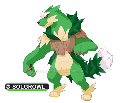 Commission: Solgrowl for pokefan-22 by Cerulebell