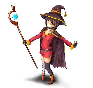 Megumin without blur and changed colours by PlayerSinon