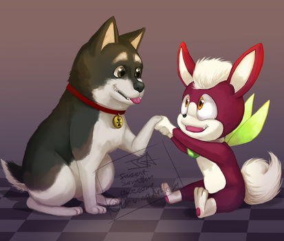 Nice to meet you Mr.Fuzzy doggy guy! by InsertSomthinAwesome