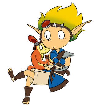 Jak and Daxter by Akkain