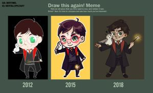 DRAW THIS AGAIN: HARRY POTTER by BertMel