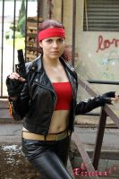 Claire Redfield RE2 Alternate biker cosplay I by Rejiclad