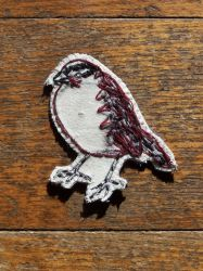 White throated sparrow brooch by the-vibrant-city