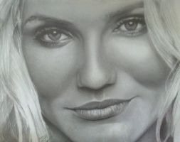 Cameron Diaz complete drawing by analuizantunes