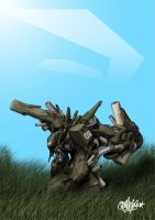 mecha from the bush by duster132