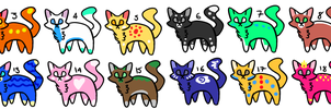Cat adoptables OPEN 11/20 LEFT by RWs-Adoptables