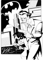 Joker and Harley in Bruce Timm style by DarkTinebra