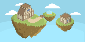 The Floating Houses by Gindew