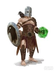Ajax the Fighter/Warlock from the Arenas by Slange5