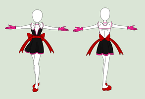 Fashion Design: Magical Girl Outfit by MaliceInTheAbyss