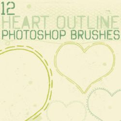 heart outline brushes by chokingonstatic