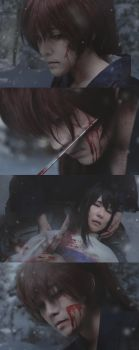 Kenshin and Tomoe: The Cross-Shaped Wound by behindinfinity
